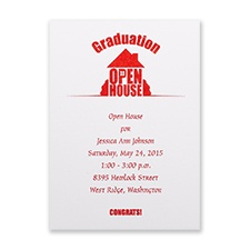 Hats off to the Graduate - Open House Invitation